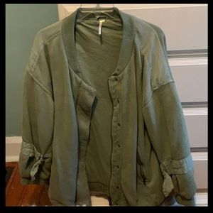 Free People oversized Downtown jacket